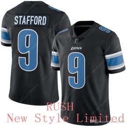 Wholesale NWT Newest Limited Rush Lions Matthew Stafford Stitched Embroidery Logos Men s America Football Authentic Jerseys Sweatshi
