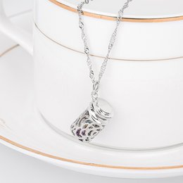 Wholesale S925 Sterling Silver Necklace Pendant Korean female birthday wishing bottles short chain manufacturers trade sign of clavicle