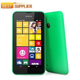 "Original Nokia Lumia 530 unlocked Phone 4.0"" Touch Screen Quad Core Dual SIM 4GB ROM 5MP Camera 3G WCDMA Wifi GPS mobile phone"