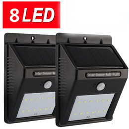 8Led Solar Panel Powered Motion Sensor Lamp Outdoor Light Garden Security Light For Outdoor Wall Yard Deck Auto On   Off -No Tools Required