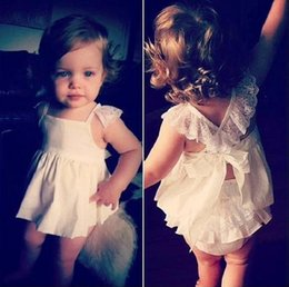 Wholesale baby clothes Baby girl kids Summer Clothes piece set outfits Lace hollow crochet tops shirt vest blouse pants Bowknot Beautiful