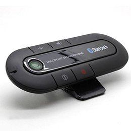 Wholesale Universal Car Kit Speakerphone Wireless Portable Multipoint Bluetooth Sun Visor In Car Audio Vehicle Handfree Speaker for IPhone Android