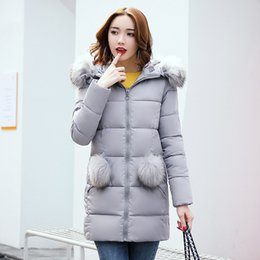 Cotton jacket foreign trade burst cotton 2017 winter new European and American wind thick in the long paragraph cotton wholesale