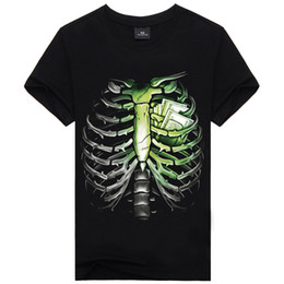 2016 New Fashion Men's Cool 3D Print Skull Animal Short Sleeves Causul T-Shirts