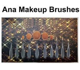 Wholesale Toothbrush Oval Makeup Brushes Multipurpose Artis Bendable Toothbrush Shaped Cosmetic Brush Set Foundation Kit Beauty Brush