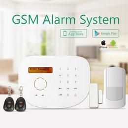 Wholesale 2016 new product GS S2G wireless home gsm alarm security wireless gsm alarm system words menu touch screen keypad rfid function