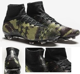 Chaussures de sport en Ligne-2016 nouveau Athlétisme mens Chaussures Mercurial Superfly Camo Pack de formation de football, Sneakers de haute qualité Chaussures de course, Sports de plein air Chaussures de football