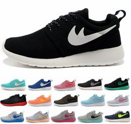 Wholesale 2016 Men Women Roshe Run Running Shoes For London Olympic Lightweight Rosh Roshes Runs One Black Navy Red Rosherun Sneakers