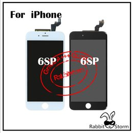 Wholesale For IPhone S Plus LCD Display inch Touch Screen Digitizer Full Assembly Replacement Parts Grade A Black White splus