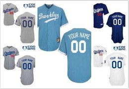 Wholesale Los Angeles Dodger New Gray Light Navy Blue White Customized Jerseys Men Women Kids Los Angeles Dodger Baseball Custom Jerseys