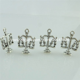 Wholesale 14873 Alloy Antique Silver Vintage Balance Scale Fair Libra Pendant Charm