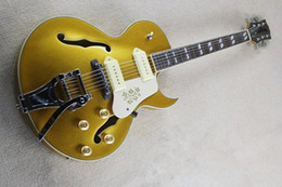 Brand new semi hollow body jazz electric guitar with double F hole P90 pickup and single cutway