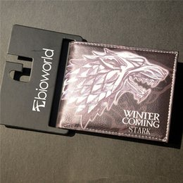 Wholesale Wallets Holders Wallets New PU Leather Wallet Game of Thrones Short Wallets With Card Holder Men And Women Purse Cartoon Wallet Dollar Price