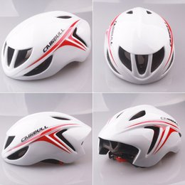 Wholesale CAIRBULL Cycling Helmet Ultralight Aerodynamics Road Racing Bike Helmet Mountain Bike Integrated Molded Holes Bicycle Helmet