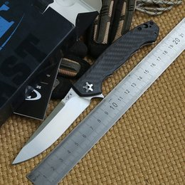Wholesale Zero Tolerance ZT0452CF DMITRY SINKEVICH Folding KVT Ball bearing Flipper Knife D2 Titanium carbon fiber camp hunt survival outdoor EDC tool