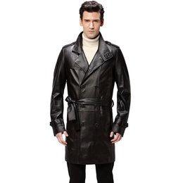 Wholesale Best Seller leather jacket Genuine Leather Mandarin Collar Sheepskin Coat male Leather jacket men mens leather jackets and coats