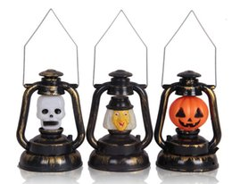 Wholesale Wholesales Halloween Supplies indoor lighting lantern ghost glowing pumpkin bar decoration props night light Home Bar Party Decoration LED