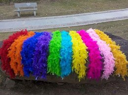 Wholesale 2M long natural Turkey feathers Feather boa Decorative diy multicolor Festival and party supplies > > celebration party supplies