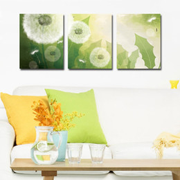 unframed 3 Pieces free shipping picture Home decoration Canvas Prints Dandelion Lotus peacock windmill tree Cartoon snow Abstract flowers