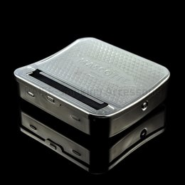 Wholesale Automatic Cigarette Tobacco Smoking Pipes Rolling New mm Metal Machine Roller Box CMB007
