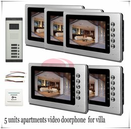 Wholesale High Qaulity quot LCD Wired Video Doorphone Door Access Control System For Apartments Villas Floors In Stock
