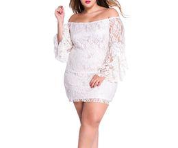 Vestido de boda del mini vestido del vestido del mini vestido del cordón de las mujeres de Kasiria Vestido de trabajo del vestido ocasional Vestido de una pieza blanco y negro más tamaño desde vestido del hombro del trabajo proveedores