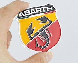 Wholesale 20pcs Brand New Metal D Badge Emblem Sticker Decal for Fiat Abarth D badges emblem autocollant