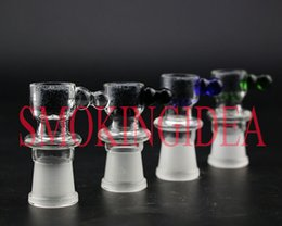 Wholesale SMOKING HEALTH STONE BOWL FILTER HEALTHY STONE OIL DISK BOWL ROUND HANDLE DESIGN FEMALE