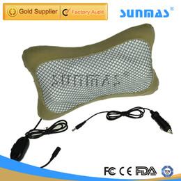 Wholesale SUNMAS SM9130 Multifunctional Infrared Electric Massage Pillow Car Massage Seat Heating Shiatsu Cushion Kneading Massager