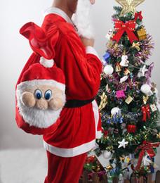 Wholesale New Chrismas Gift Bag X mas Backpack Cartoon Santa Claus Super Soft Sack Christmas Candy Bag drawstring cm