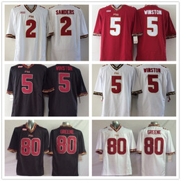 Wholesale Florida State Seminoles Jersey Ncaa College FSU Deion Sanders Jameis Winston Rashad Greene White Red Black