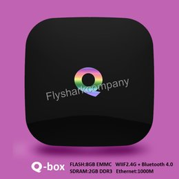 Wholesale Amlogic S905 Qbox Android Online TV Box KODI XBMC installed Smart TV Boxes WIFI Google Play K OTT TV box better than M8S