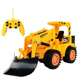 Wholesale bulldozer Engineering excavator vehicles Channels Wireless remote control vehicle Electric cars toys