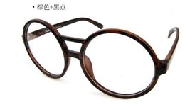 Wholesale Spectacle Frames Lady - 2016 New Round Retro Big Box Ladies Glasses Without Lenses Trend Spectacle Frame