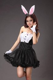 Wholesale Black Rabbit Girl Lovely Rabbit Cartoon Game Clothing Bra Small Skirt Game Uniforms Dance Costumes Agency Service Station J239