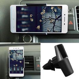 Promotion vent mount gps Universal Car Air Vent Mount Cradle Support pour Support de téléphone mobile pour l'iPhone Stands 6 6 Plus Téléphone GPS pour Sony HTC Sumsung