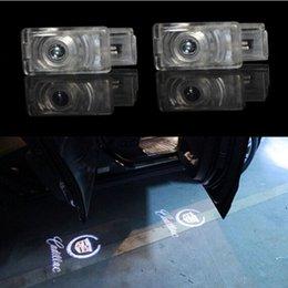 Wholesale 2pcs LED Car Door Courtesy Laser Projector Logo Ghost Shadow Light For Cadillac SRX XTS