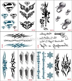 10 pcs set Random Waterproof Temporary Tattoo Sexy Body Sticker Temporary Tattoos Cheap Temporary Tattoos