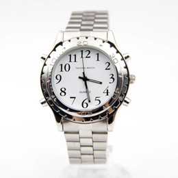 Wholesale 2016 Watches For Blind Or Visually Impaired Watch Simply English Talking Clock Stainless Steel Relogios Masculinos