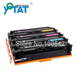 Wholesale cartucho de toner colorido recarregáveis CF400A CF401A CF402A CF403A para HP Laserjet Pro M252dw M277dw M277n