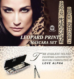 Love Alpha Wild Leopard Mascara 3D FIBER LASHES Love Like Alpha Waterproof Transplanting Gel&Natural Make Up Cosmetics with box