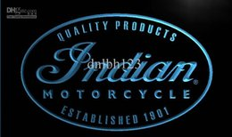Wholesale LG214 TM Indian Motorcycle Service Neon Light Sign Advertising led panel