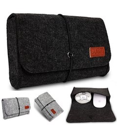 Wholesale Brand Digital Storage Bag Wool Felt Bag Pouch For Macbook Laptop Adapt And Mouse Case Colors Wholesales Free Drop Shipping