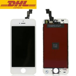 10pcs lot 100% Tested LCD Display Touch Screen For Apple iPhone 5S With Digitizer Assembly Replacement Black And White DHL Freeshipping