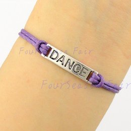 Wholesale Custom Newest Simple Silver Dance Ballet Dancer Rope Bracelets Bangles for girls bracelet Dancer lovers best friend gift Drop Shipping