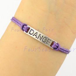2017 regalos para los amigos Los brazaletes de plata simples de las pulseras de la cuerda del bailarín de ballet de la danza de encargo-El más nuevo para el envío de la gota del regalo del amigo de los amantes del bailarín de la pulsera de las muchachas regalos para los amigos en oferta