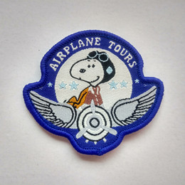 Snoopy Airplane Tours Pilot Collection Patch Shirt Trousers Vest Coat Skirt Bag Kids Gift Baby Decoration