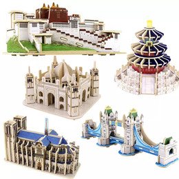 DIY 3D Wooden Puzzle For Children To Develop Their Manipulative Ability With Kit: London Bridge,Taj Mahal And Other Parttens