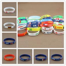Wholesale 2016 New Hot Casual Country Bracelet National Flag Fashion Silicone Olympics Bracelets Comfortable Beautiful Sports Wristband