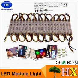 LED module light lamp SMD 5050 waterproof LED modules for sign letters LED back light SMD5050 20pcs 3 led DC12V IP65 free shipping